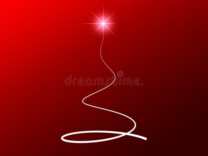 L'abstrait stars l'arbre de Noël illustration libre de droits