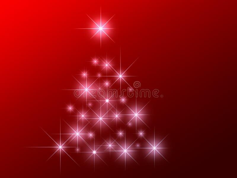 L'abstrait stars l'arbre de Noël illustration de vecteur