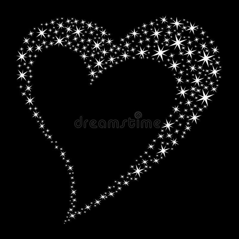 L'abstrait Stars le coeur. illustration de vecteur
