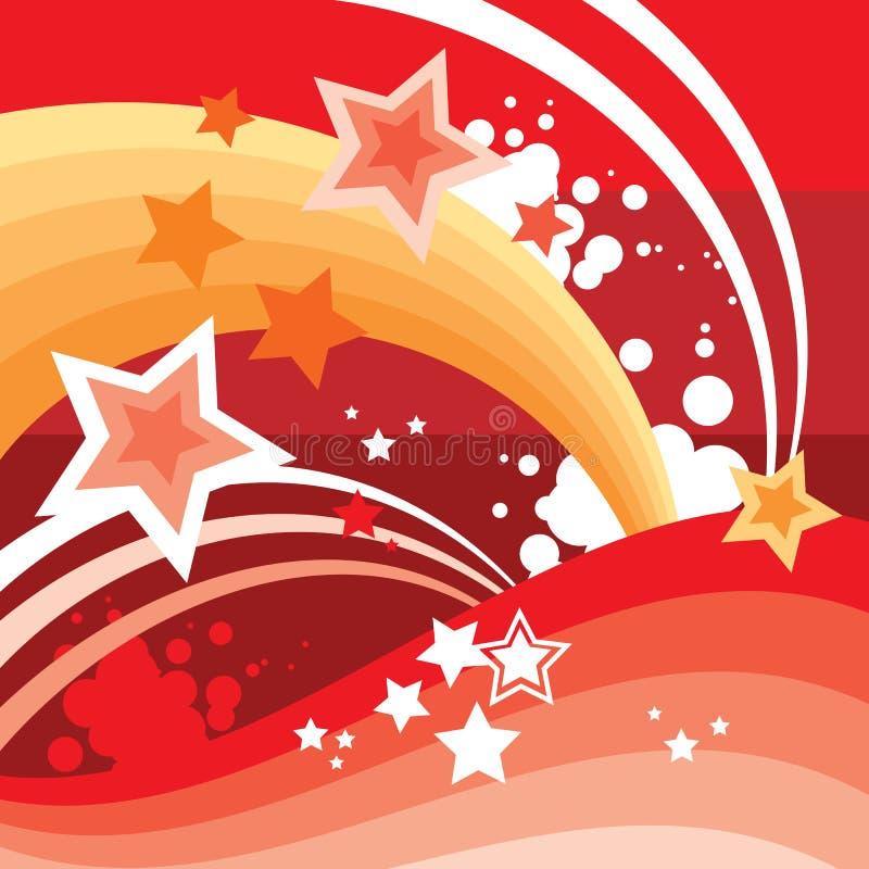 L'abstrait Stars le fond illustration de vecteur