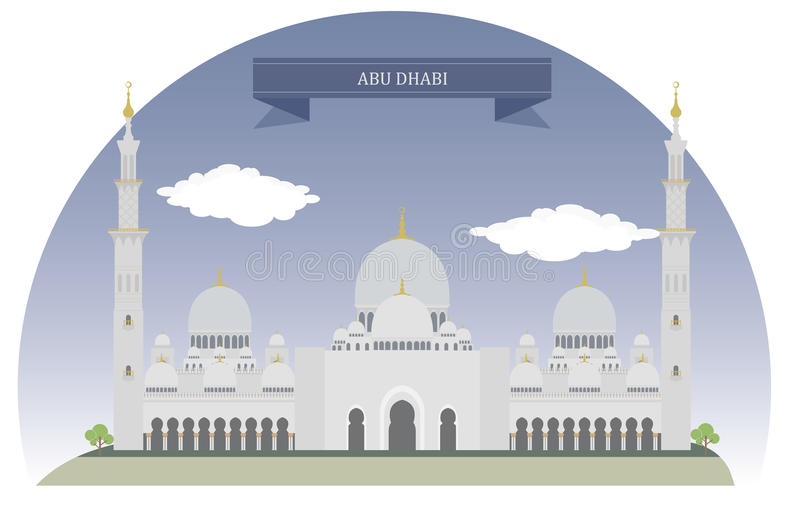 L'Abu Dhabi illustrazione vettoriale