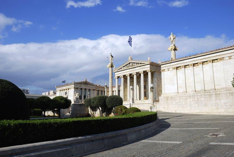 L'académie nationale d'Athènes (Grèce) photos libres de droits