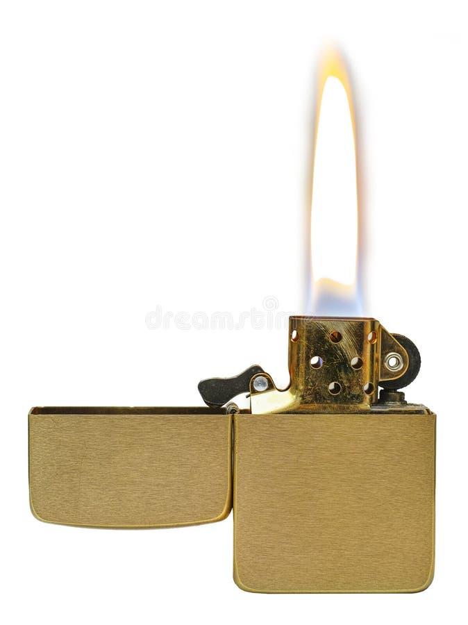 L'accendino dà fuoco fotografie stock libere da diritti