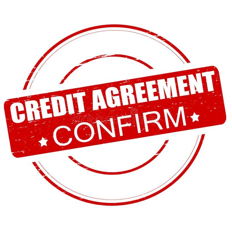 L'accord de crédit confirment illustration de vecteur