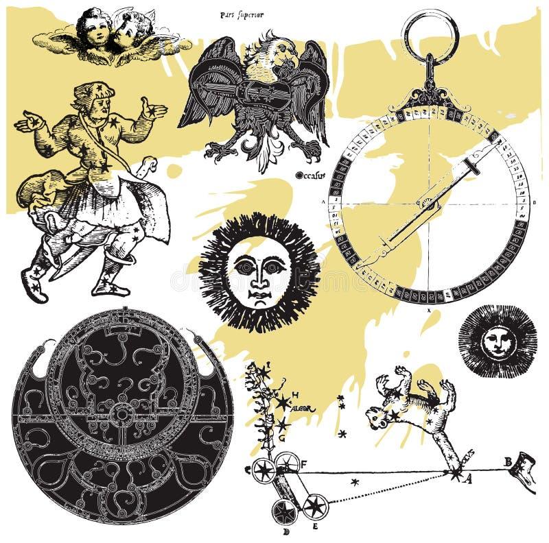 L'accumulazione 13 di astrologia illustrazione vettoriale