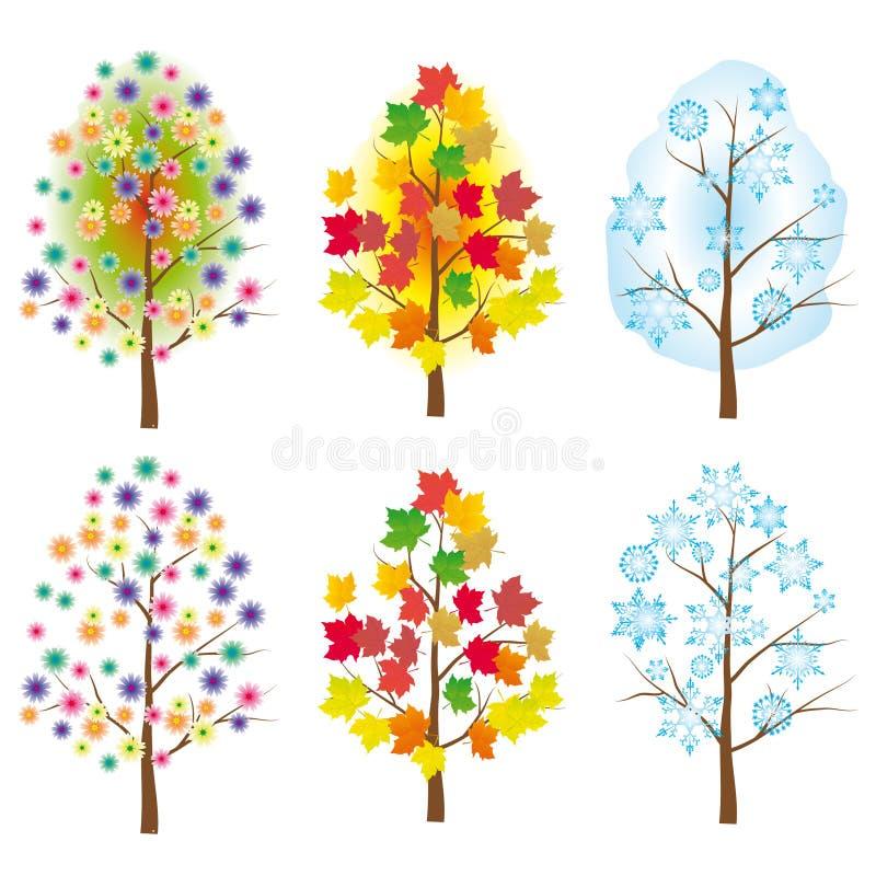 L'accumulazione degli alberi illustrazione di stock