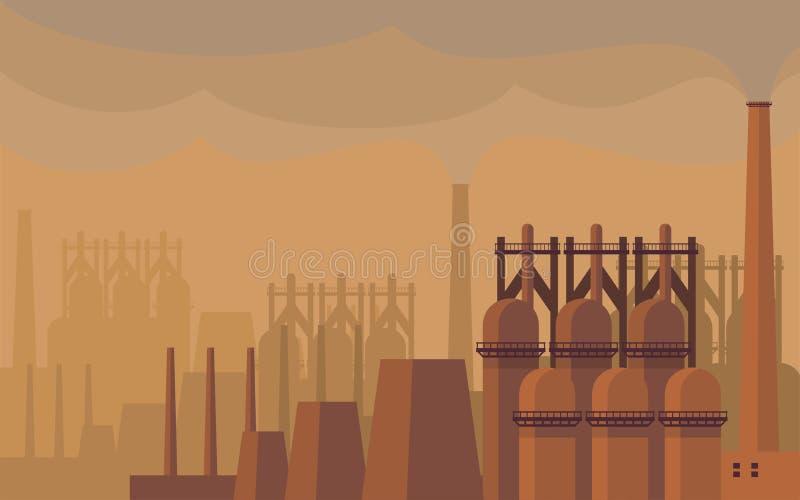 L'aciérie illustration de vecteur