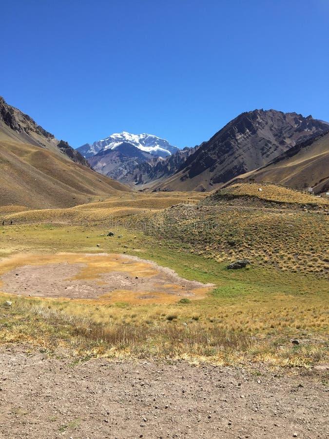 L'Aconcagua, la plus haute montagne en Amériques - les Andes de Mendoza Argentine images stock