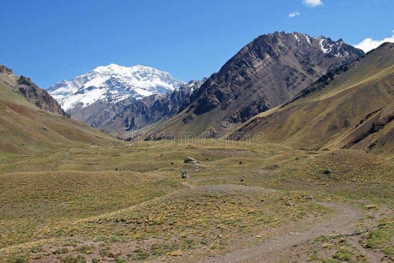 L'Aconcagua, montagnes des Andes, Argentine photo stock
