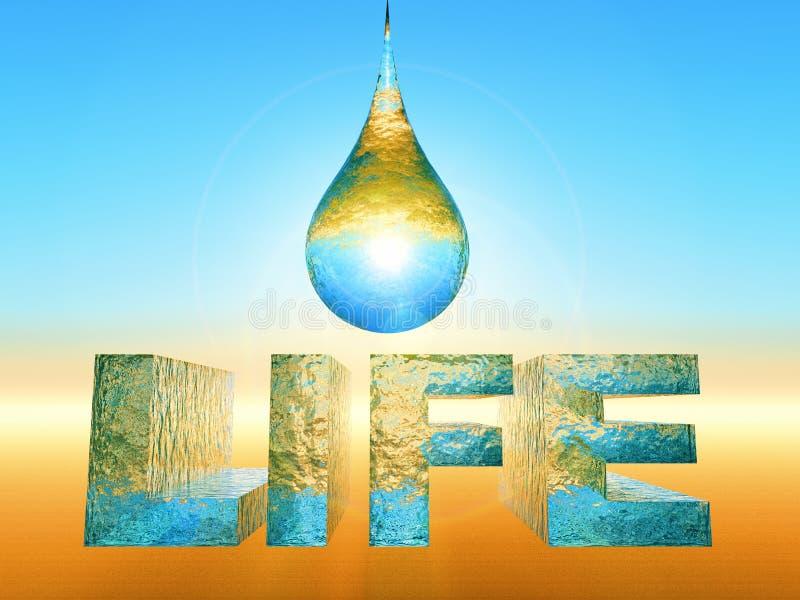 L'acqua è vita royalty illustrazione gratis