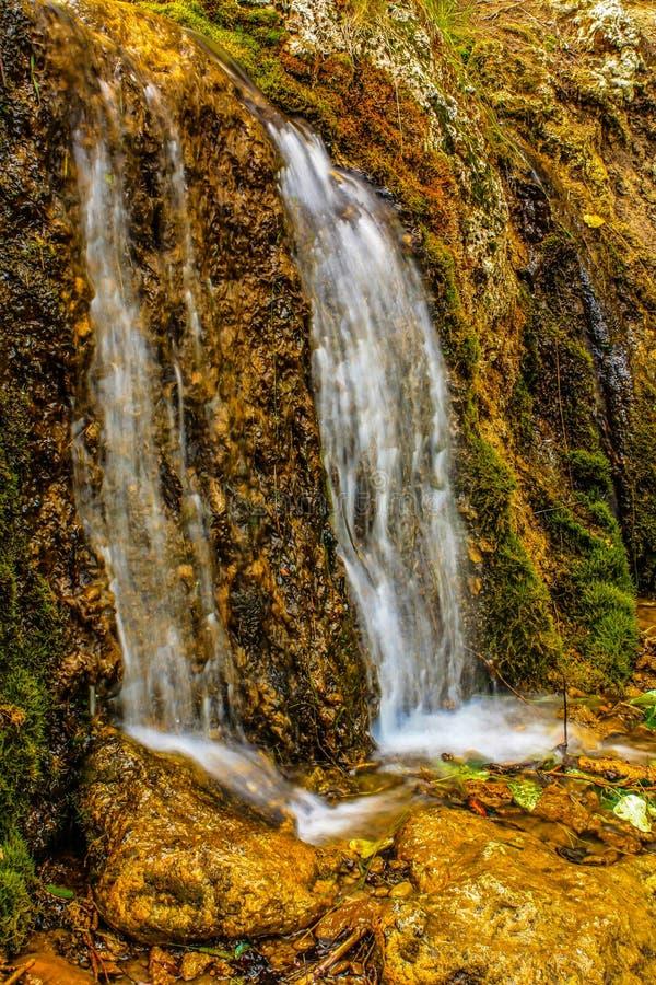L'acqua corrente, grande collina balza area di ricreazione provinciale, Alberta, Canada fotografia stock