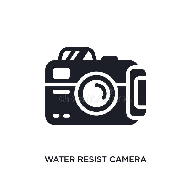 l'acqua resiste all'icona isolata macchina fotografica illustrazione semplice dell'elemento dalle icone nautiche di concetto l'ac royalty illustrazione gratis
