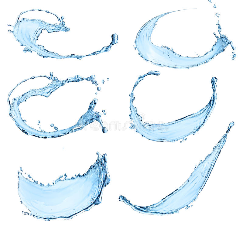 L'acqua spruzza illustrazione vettoriale