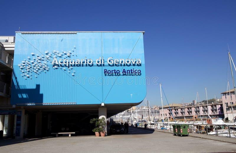 L'acquario di Genova, Italia fotografia stock libera da diritti