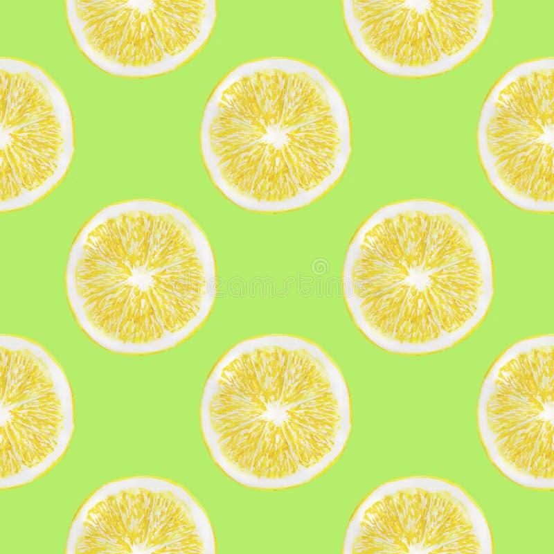 L'acquerello dei limoni fruttifica insieme senza cuciture di carta dell'illustrazione di Digital del modello dell'agrume del desi royalty illustrazione gratis