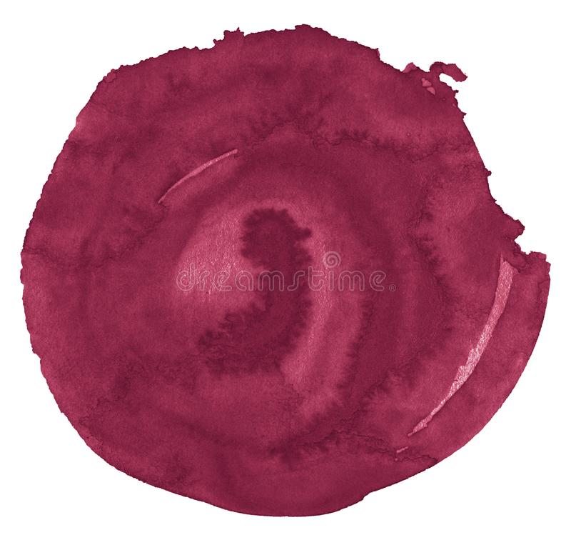 L'acquerello rosso persiano è un colore di tendenza, un punto isolato con i divorzi e confini Pagina con lo spazio della copia royalty illustrazione gratis