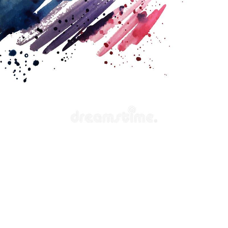 L'acquerello spruzza immagine stock