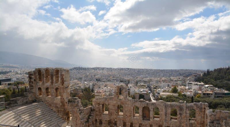 L'Acropole à Athènes à un jour ensoleillé photographie stock