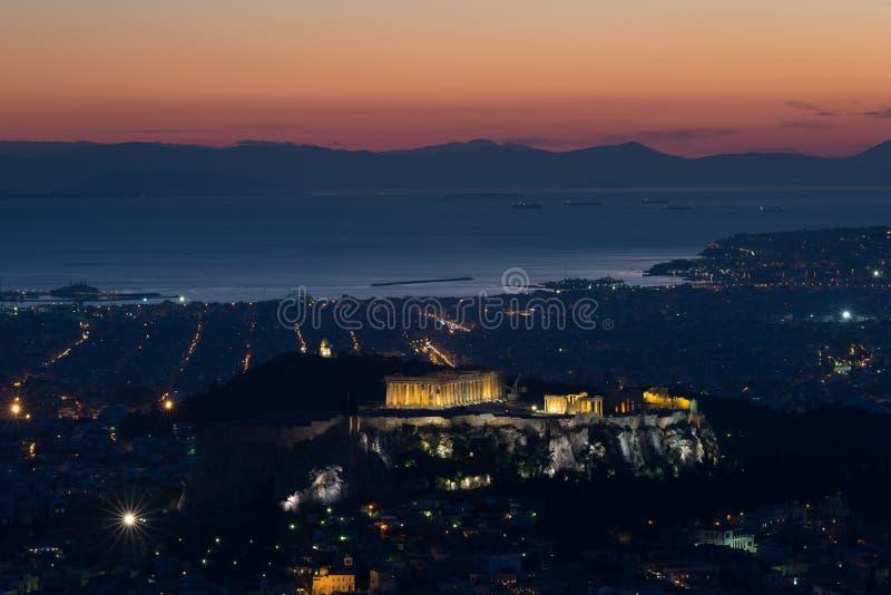 l'Acropole d'Athènes photo stock