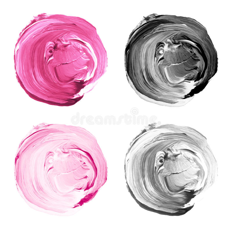 L'acrylique entoure le rose de collection, couleurs grises illustration stock