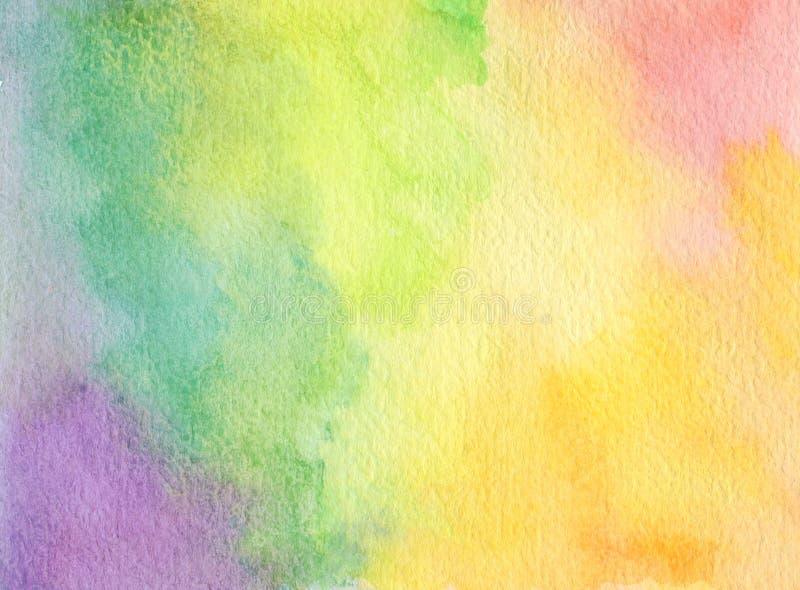 L'acrylique et l'aquarelle abstraits balayent le fond peint par courses image libre de droits