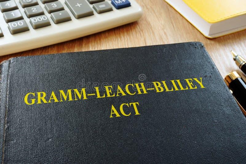L'acte GLBA de Gramm-épuisement-Bliley ou acte de modernisation de services financiers image stock