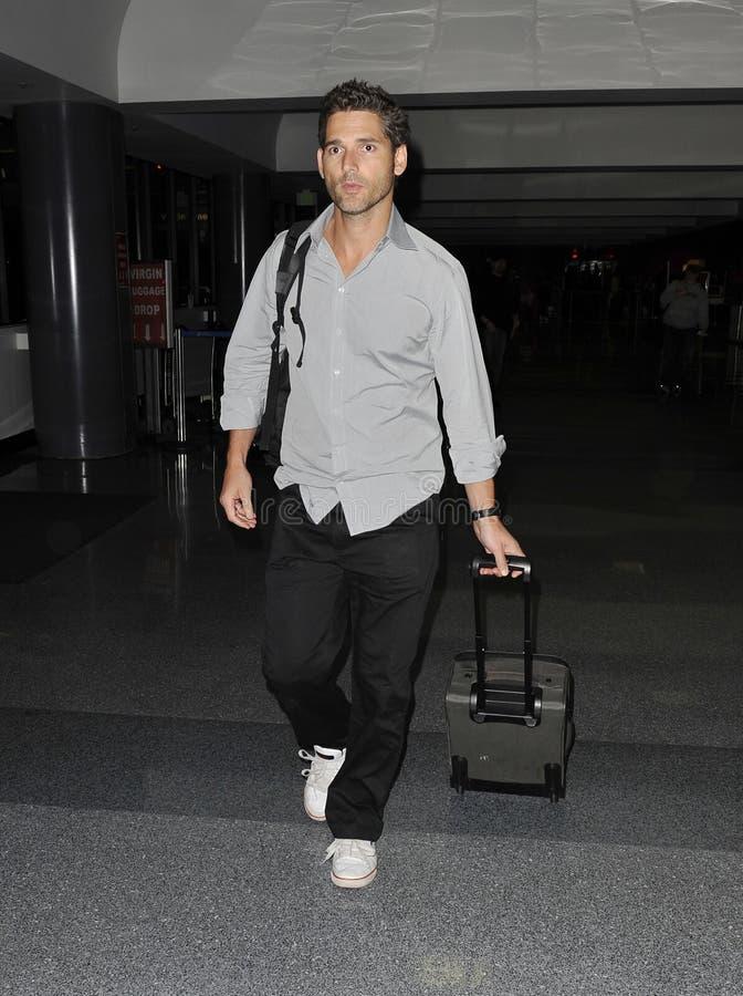 L'acteur australien Eric Bana est vu chez LAX photo stock