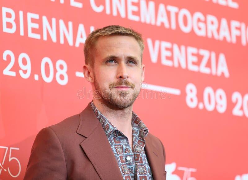 L'acteur Ryan Gosling assiste au premier ` d'homme de ` photographie stock libre de droits