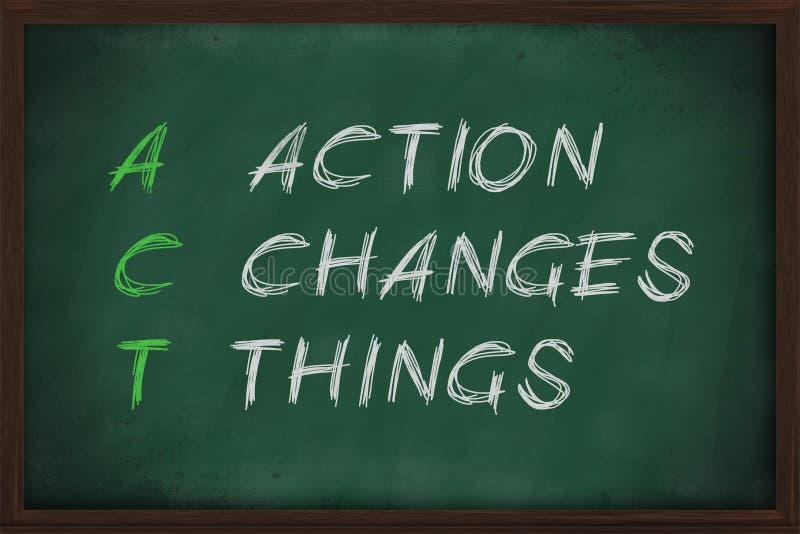 L'action change des choses illustration libre de droits