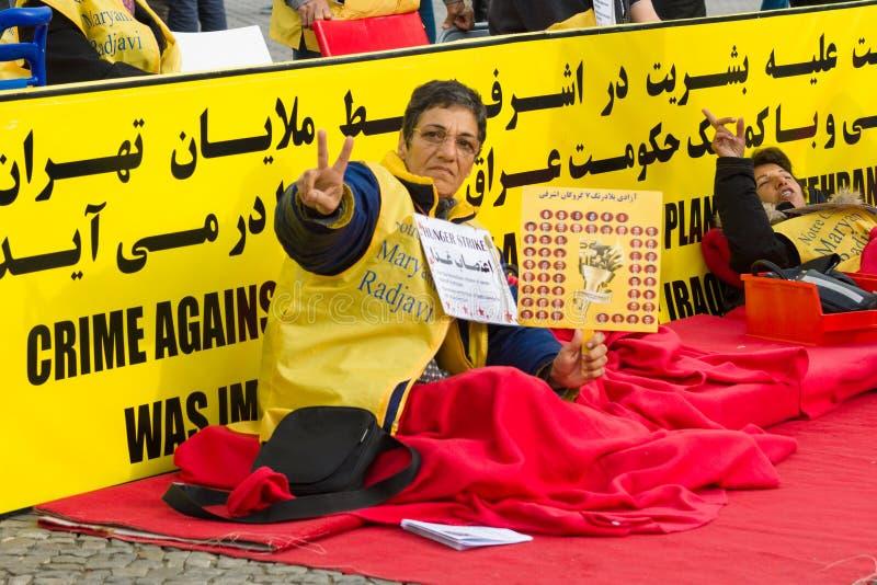 L'action &#x28 ; faim strike&#x29 ; Dissidents iraniens photos libres de droits