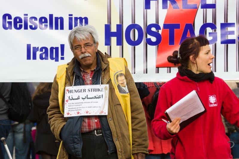L'action &#x28 ; faim strike&#x29 ; Dissidents iraniens images libres de droits