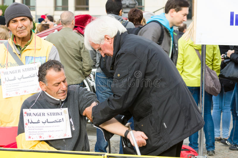 L'action &#x28 ; faim strike&#x29 ; Dissidents iraniens images stock