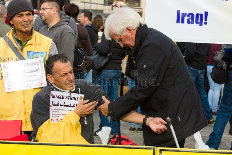 L'action ( ; faim strike) ; Dissidents iraniens photographie stock libre de droits