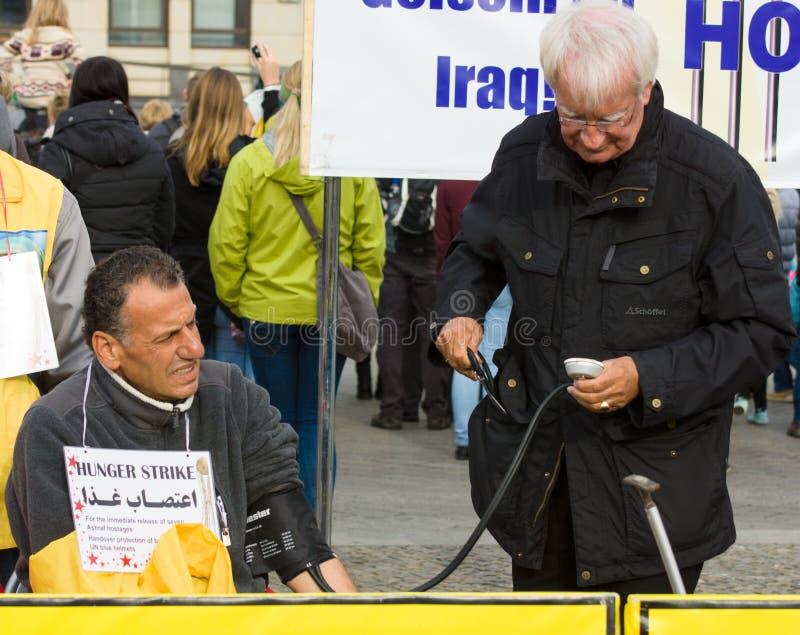 L'action ( ; faim strike) ; Dissidents iraniens photographie stock