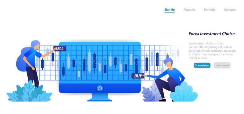 L'action sur un investissement achat-vente ou des bénéfices de perte est risque dans les décisions d'investissement courantes de  illustration stock