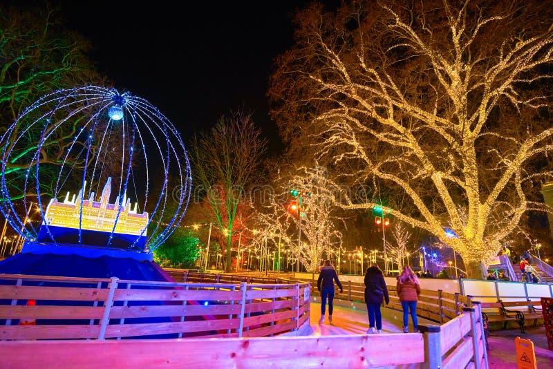 L'activité de sport d'hiver à Vienne, Autriche photographie stock