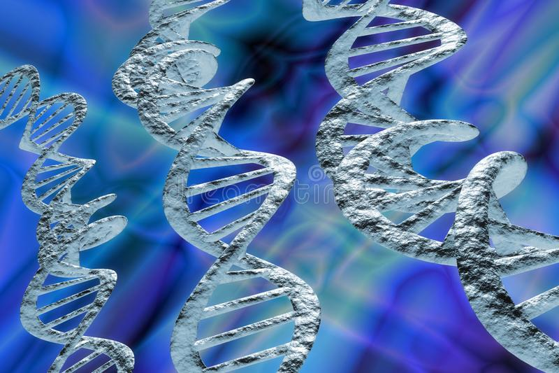 L'ADN échoue l'illustration 3D illustration libre de droits