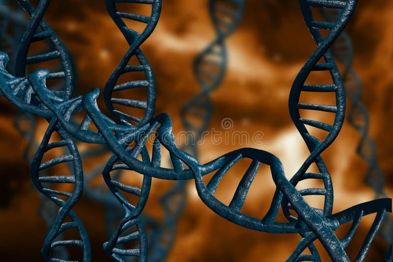 L'ADN échoue l'illustration 3D illustration stock