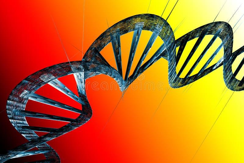L'ADN échoue l'illustration 3D illustration de vecteur