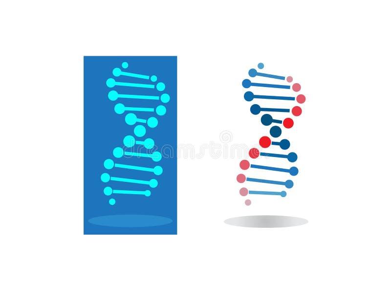 L'ADN entoure la conception de sang pour l'illustration de logo illustration stock