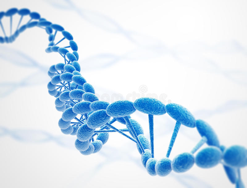 L'ADN ficelle le bleu illustration de vecteur