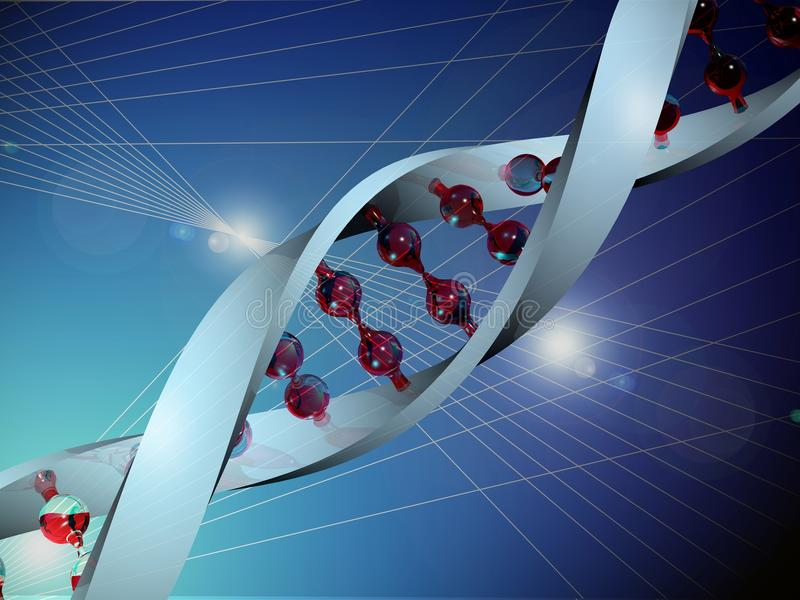 L'ADN humaine de gènes illustration de vecteur