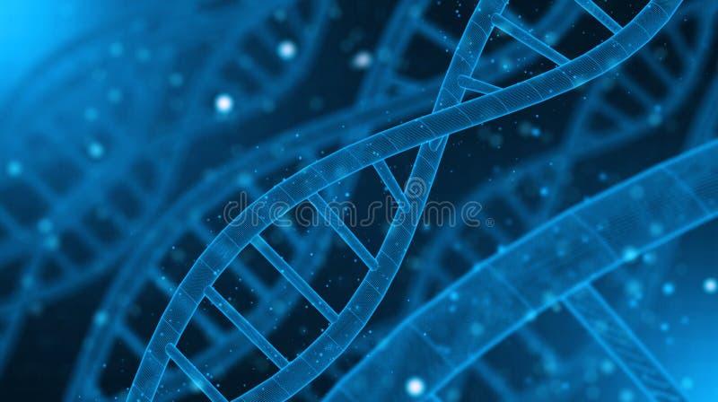 L'ADN rendent le fond photographie stock