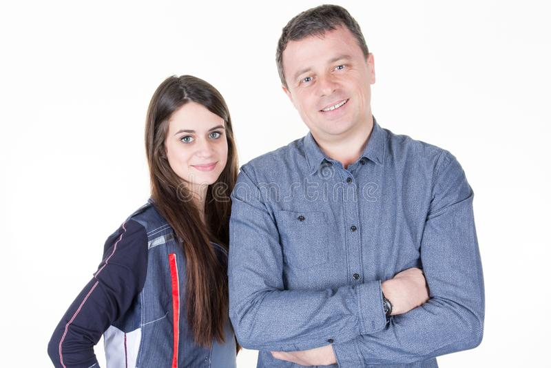 l'adolescente ed il papà svegli generano spendere il tempo insieme fotografia stock libera da diritti