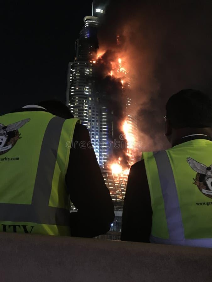 L'adresse Dubaï du centre images libres de droits