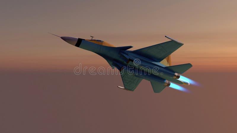 L'aereo militare russo s-34 illustrazione vettoriale