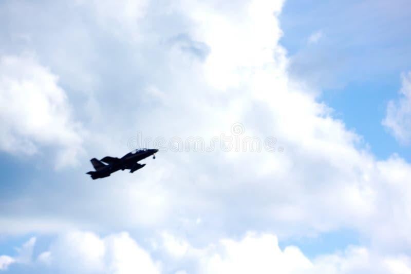 L'aereo nel cielo fotografia stock libera da diritti