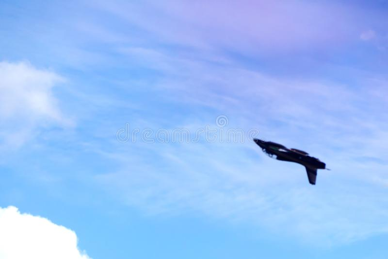 L'aereo nel cielo fotografia stock