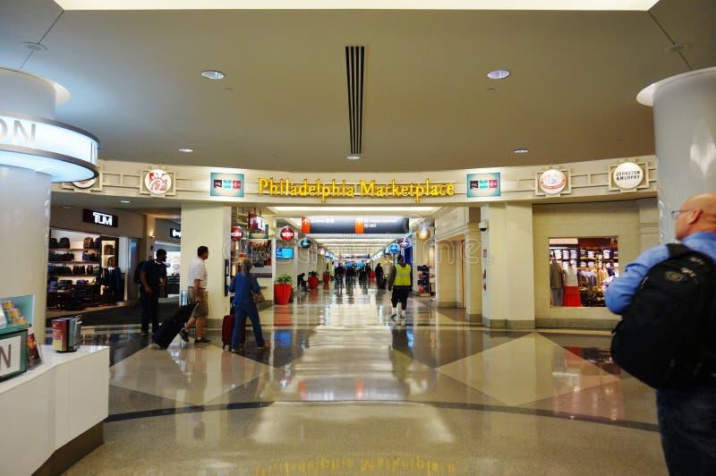 L'aeroporto internazionale di Filadelfia (PHL) fotografia stock libera da diritti