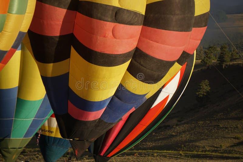 L'aerostato di aria calda photgrphed al Bealton, esposizione di aria del circo di volo di VA immagine stock libera da diritti